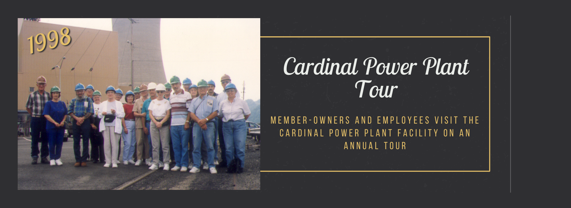 member-owners and employees visit the Cardinal power plant facility on an annual tour
