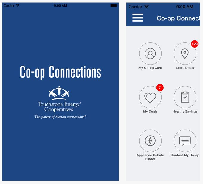 Connections Card App on Mobile Device